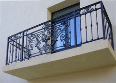 Кованые перила дизайн КП 006 для балконов