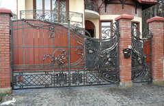 Кованые ворота дизайн КВ 004 без дерева