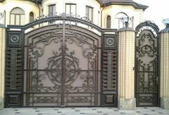 Кованые ворота дизайн КВ 005