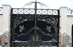 Кованые ворота дизайн КВ 010