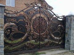 Кованые ворота дизайн КВ 011