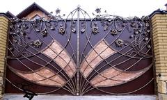 Кованые ворота дизайн КВ 014