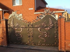 Кованые ворота дизайн КВ 016