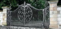 Кованые ворота дизайн КВ 017
