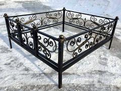 Кованая могильная ограда дизайн МОК-004