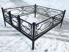 Кованая могильная ограда дизайн МОК-007