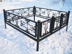Кованая могильная ограда дизайн МОК-013