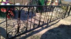 Кованая могильная ограда дизайн МОК-014