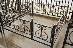 Кованая могильная ограда дизайн МОК-018