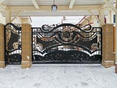 Кованые ворота дизайн КВ-088