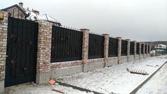 Кованый забор дизайн КЗ 002
