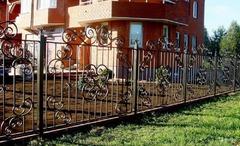 Кованый забор дизайн КЗ 004