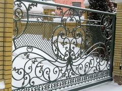 Кованый забор дизайн КЗ 011