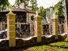 Кованый забор дизайн КЗ 015