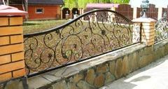 Кованый забор дизайн КЗ 023
