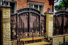 Кованый забор дизайн КЗ 033