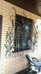 Кованые решетки на окна дизайн КР 001