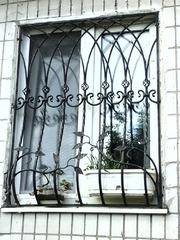 Кованые решетки на окна дизайн КР 021