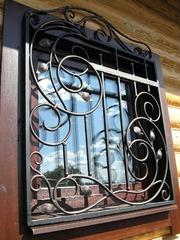 Кованые решетки на окна дизайн КР 104